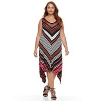 Plus Size Apt. 9® Shark-Bite Maxi Tank Dress