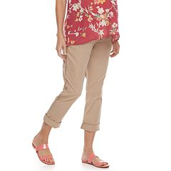 Maternity a:glow Full Belly Panel Girlfriend Chino Pants