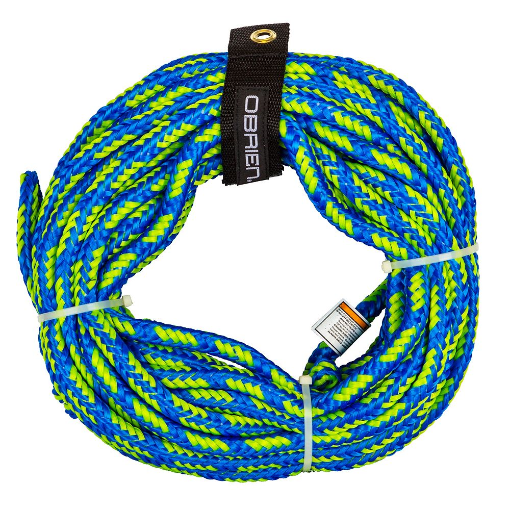 O'Brien 60-Ft  2-Person Blue/Green Floating Tube Rope