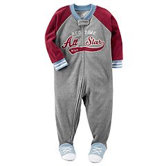 Baby Boy Carter's 'All-Star' Fleece Footed Pajamas