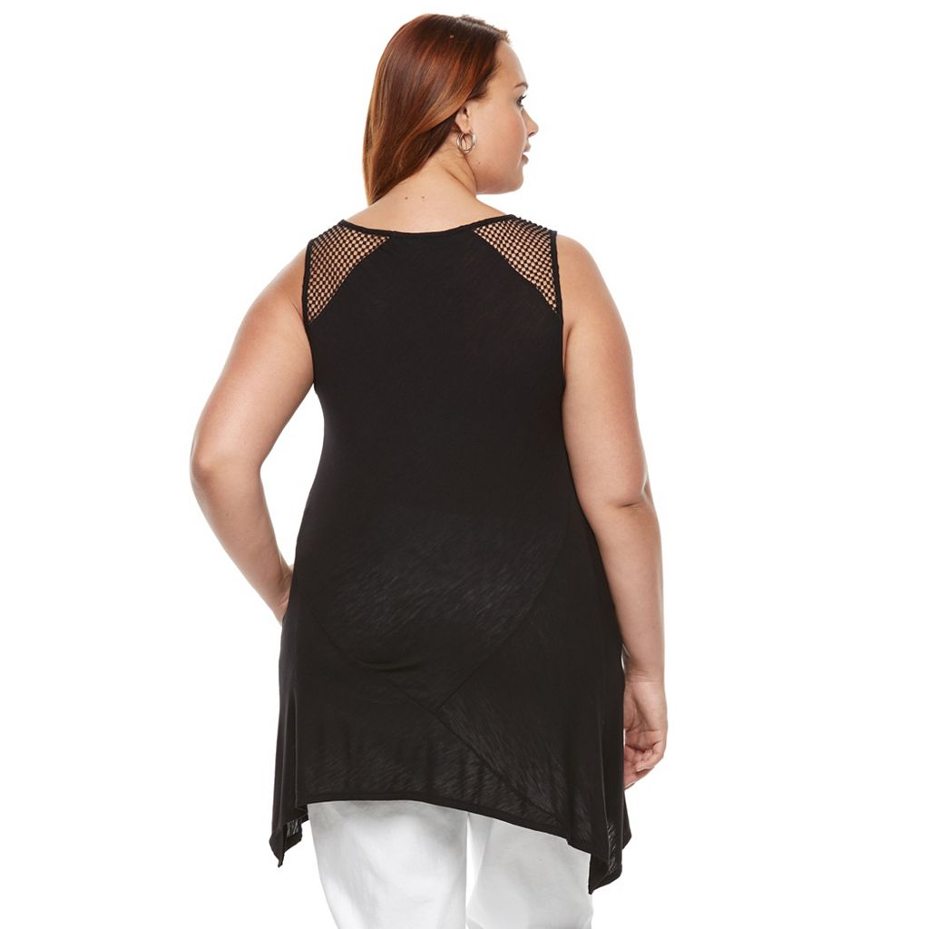 Plus Size Apt. 9® Crochet Trim Tank Top