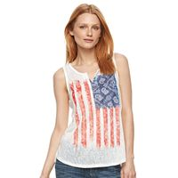 Women's Kate and Sam Flag Burnout Graphic Tank