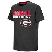 Boys 8-20 Campus Heritage Georgia Bulldogs Heathered Tee