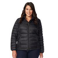 Plus Size Heat Keep Hooded Down Puffer Jacket
