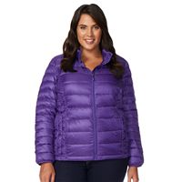 Plus Size Heat Keep Hooded Down Puffer Jacket