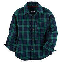 Toddler Boy Carter's Plaid Button-Front Shirt