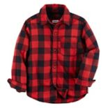 Toddler Boy Carter's Red Plaid Button-Front Shirt