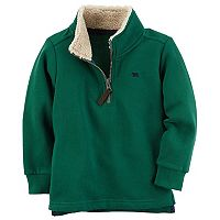 Toddler Boy Carter's 1/4-Zip Green Fleece Mockneck Pullover