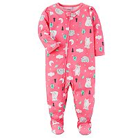 Baby Girl Carter's Bear One-Piece Footed Pajamas