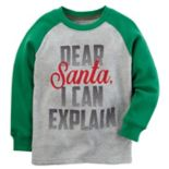"Toddler Boy Carter's ""Dear Santa, I Can Explain"" Raglan Tee"