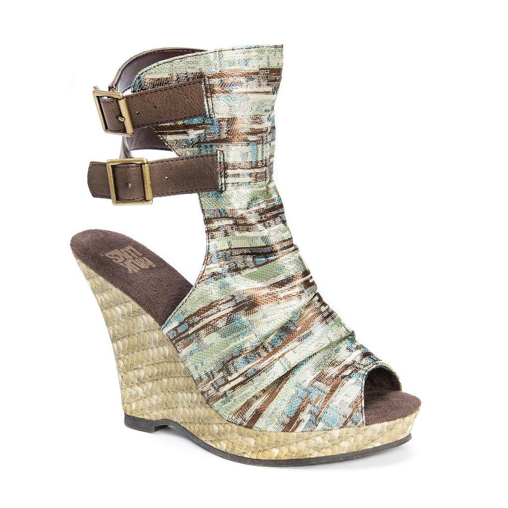 MUK LUKS Sage Women's Espadrille Wedge Sandals