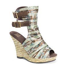 43565445bcd825 MUK LUKS Sage Women s Espadrille Wedge Sandals