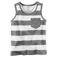 Baby Boy Carter's Slubbed Striped Pocket Tank Top