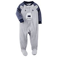 Baby Boy Carter's Bear Fleece Footed Pajamas