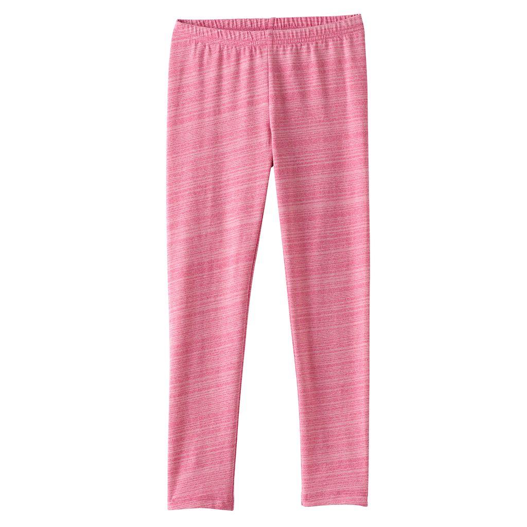 Girls 4-10 Jumping Beans® Long Pink Space-Dyed Leggings