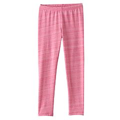 Girls 4-10 Jumping Beans® Long Pink Space-Dyed Leggings