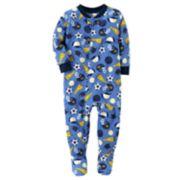 Toddler Boy Carter's Sports Fleece Footed Pajamas