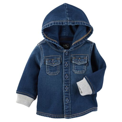 Baby Boy OshKosh B'gosh® Hooded Denim Shirt