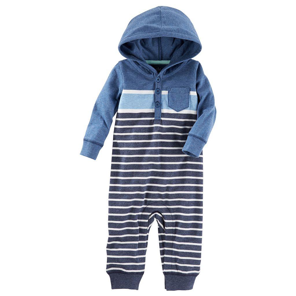 Baby Boy OshKosh B'gosh® Striped Hooded Coverall