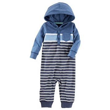 Baby Boy OshKosh B'gosh® Striped Hooded Coverall