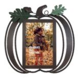 "Celebrate Fall Together 4"" x 6"" Metal Pumpkin Frame"