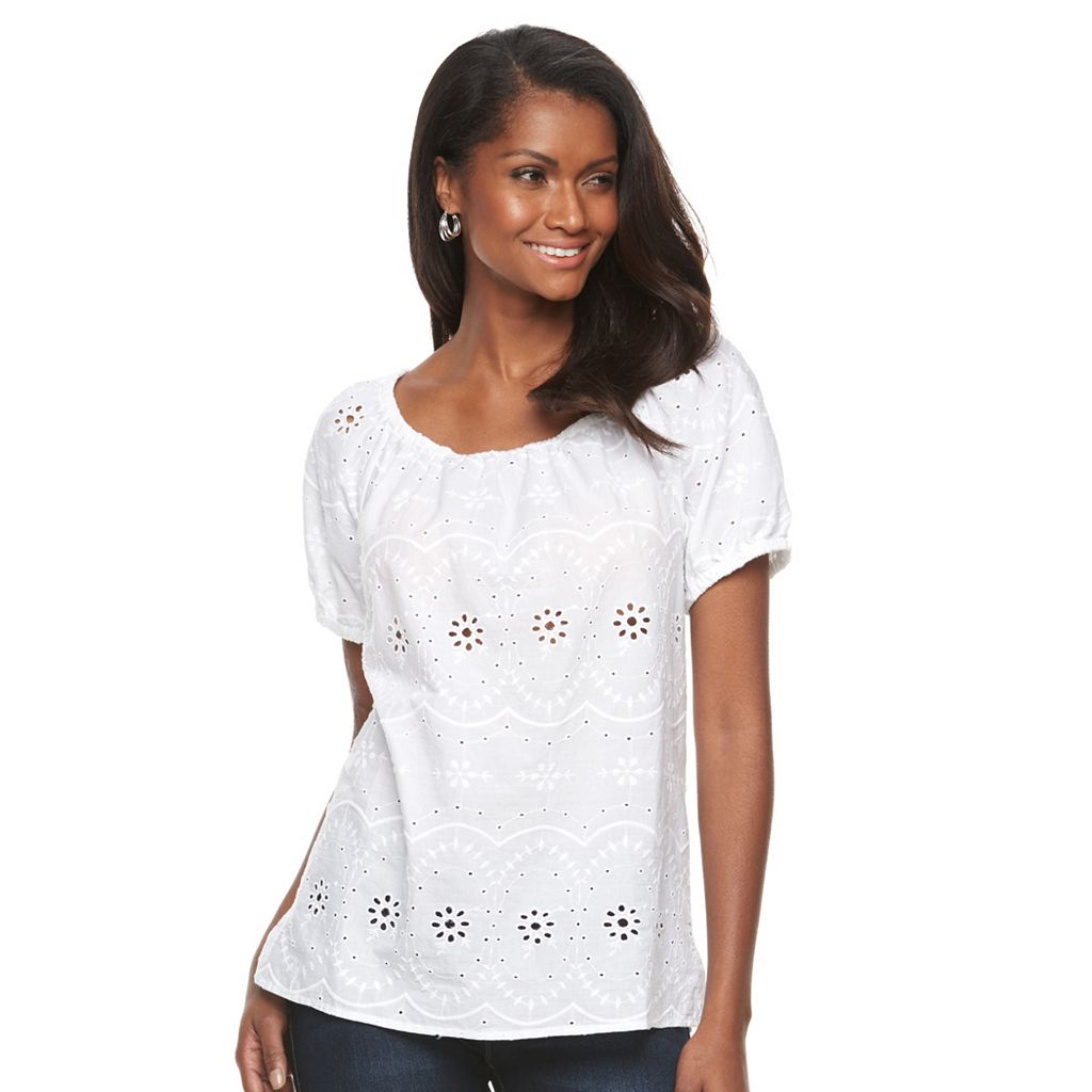 Women's Croft & Barrow® Peasant Top