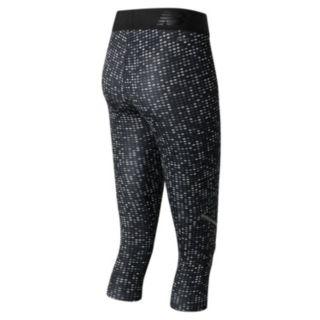 Women's New Balance Accelerate Printed Performance Capri Leggings