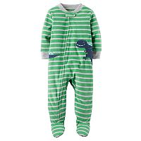 Toddler Boy Carter's Dinosaur Fleece Footed Pajamas