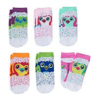 Girls 4-12 Hatchimals 6 pkLow-Cut Socks