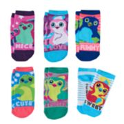 Girls 4-12 Hatchimals & Text 6-pk. Low-Cut Socks