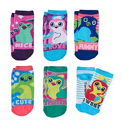 Girls 4-12 Hatchimals & Text 6 pkLow-Cut Socks