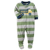 Toddler Boy Carter's Dump Truck Fleece Footed Pajamas