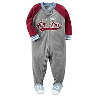Toddler Boy Carter's Football Fleece Footed Pajamas