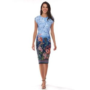 Women's Indication Ombre Floral Sheath Dress