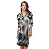 Women's Indication Geometric Sheath Dress