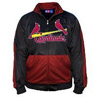 Big & Tall Majestic St. Louis Cardinals Tricot Track Jacket