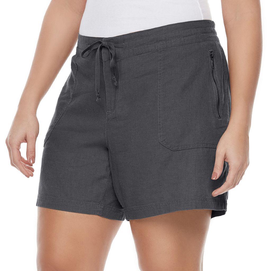 Juniors' Plus Size Unionbay Sybil Soft Shorts