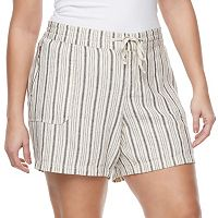 Juniors' Plus Size Unionbay Sybil Soft Shorts