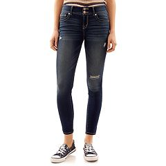 Juniors' Wallflower Ripped Ultra Skinny Jeans