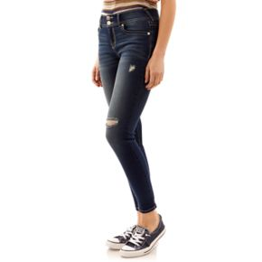 Juniors' Wallflower Ripped Ultra Skinny Jeans