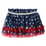 Baby Girl Baby Starters Patriotic Glittery Star Tulle Tutu