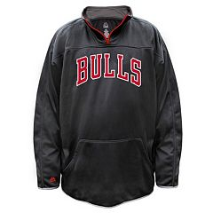 Big & Tall Majestic Chicago Bulls Birdseye Pullover