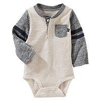Baby Boy OshKosh B'gosh® Slubbed Henley Bodysuit