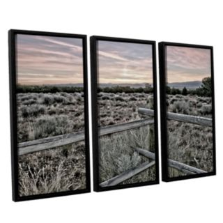 ArtWall Intersection Of The Tortoise & Hare Framed Wall Art 3-piece Set
