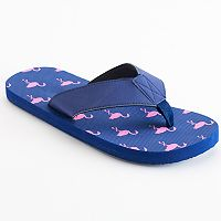 Men's Patterned Flip-Flops