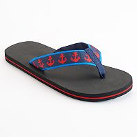 Men's Nautical Flip-Flops