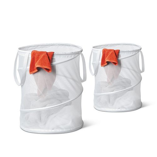 Honey-Can-Do 2-pack Medium Mesh Pop Open Hamper