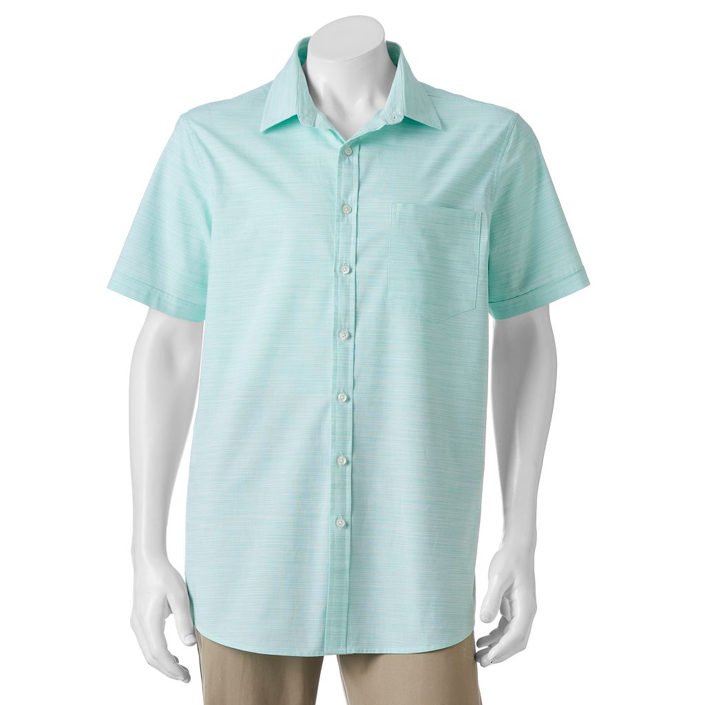 Big & Tall Apt. 9® Classic-Fit Patterned Stretch Button-Down Shirt