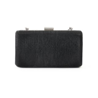 Lenore by La Regale Ribbed Minaudiere Clutch