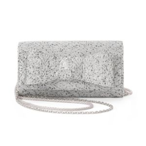 Lenore by La Regale Jacquard Flap Bow Clutch